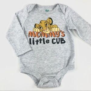 "Disney ""Mommy's Little Cub"" onesie"